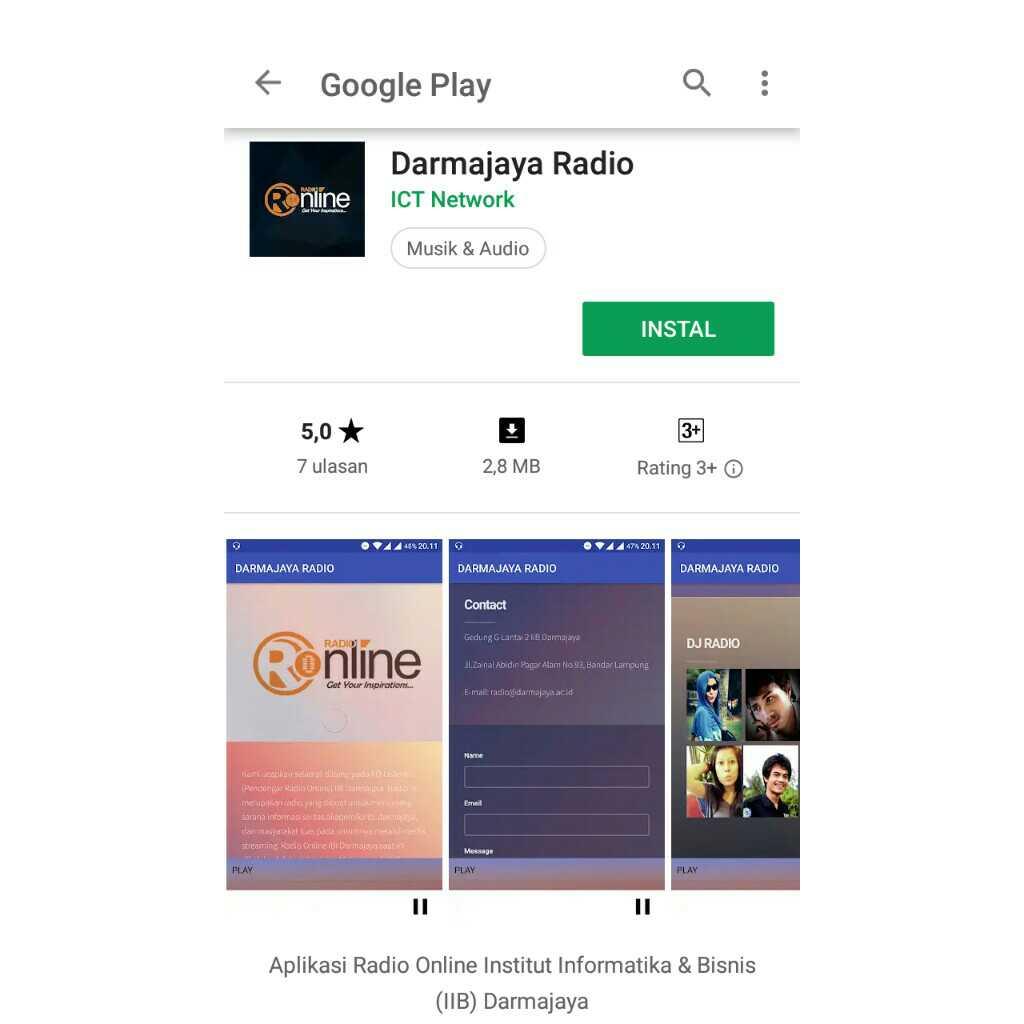 Yuk Install Darmajaya Radio Via Play Store !