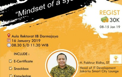 Kuy Daftar, HIMSI Darmajaya akan Hadirkan Pembicara Jakarta Smart City Lounge