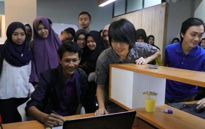 Rombongan Mahasiswa Technopreneur IIB Darmajaya Kunjungan ke Startup Game