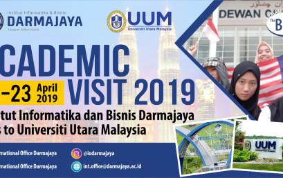 Wow…65 Mahasiswa IIB Darmajaya Ikuti Academic Visit di UUM