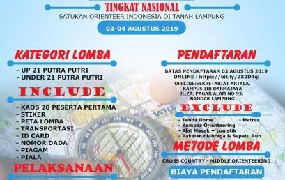 Yuk Daftar, Artala Darmajaya Gelar Kompetisi Orienteering Tingkat Nasional