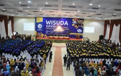 """Hari Ini, 487 Lulusan IIB Darmajaya Diwisuda """"Melisa dan Riko Lulusan Terbaik Fakultas"""""""