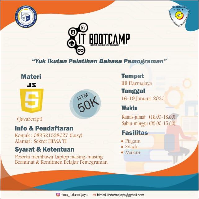 Ingin Mahir Bahasa Pemograman, Yuk Daftar IT Bootcamp Hima TI Darmajaya