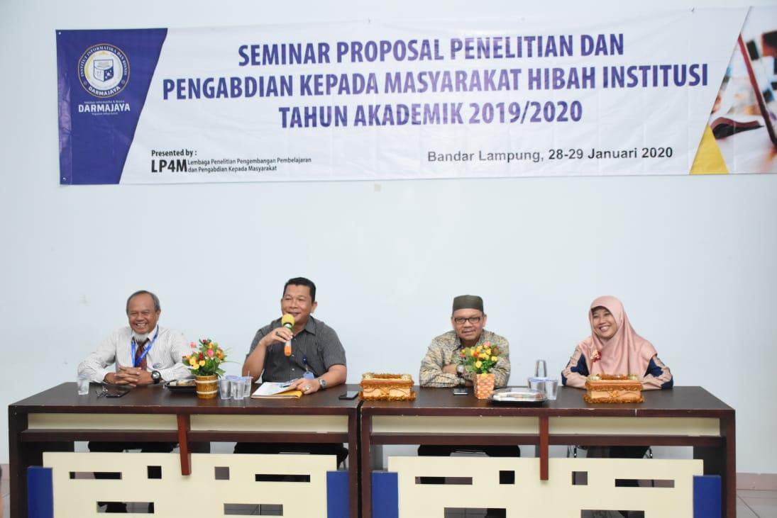 LP4M IIB Darmajaya Gelar Seminar Proposal Hibah Institusi