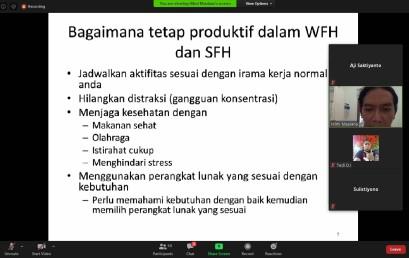 Darmajaya Bicara Perangkat Lunak untuk Tetap Produktif selama WFH/SFH