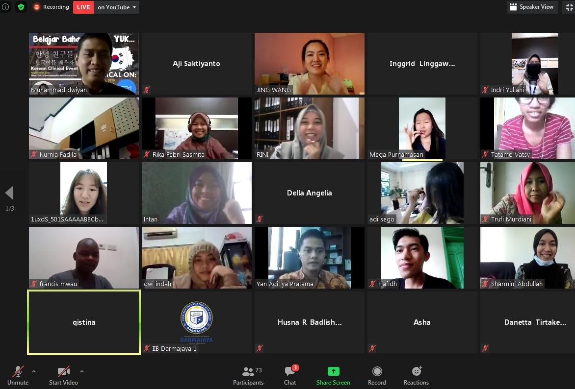 UniMAP – IIB Darmajaya Kolaborasi Gelar Webinar Belajar Bahasa Korea