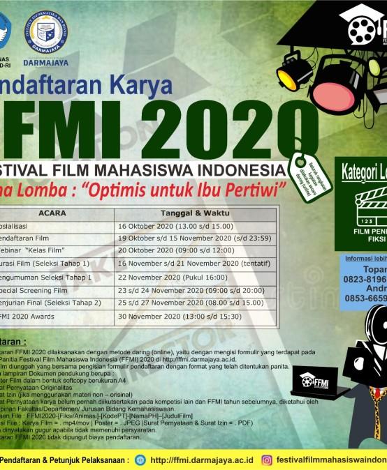 Pusprenas – IIB Darmajaya Gelar FFMI 2020: Yuuk Daftarkan Karya Film Terbaikmu Mahasiswa