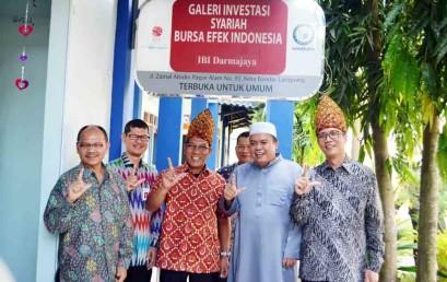 Galeri Investasi Syariah BEI-Darmajaya Diresmikan, Mahasiswa Belajar Pasar Modal