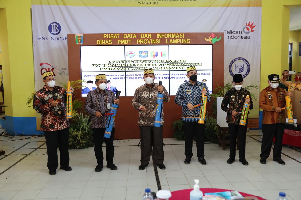 Smart Village Pemprov Lampung – IIB Darmajaya Dilaunching, Kemendagri dan Kemendes Memuji
