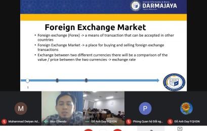 """Dosen Prodi Bisnis Digital Isi Kuliah di UEL Vietnam Mengajar Materi """"Foreign Exchange Market"""""""