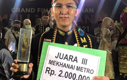 Riki Okta Saputra, Mahasiswa Prodi Manajemen IIB Darmajaya Juara III Mekhanai Kota Metro 2021