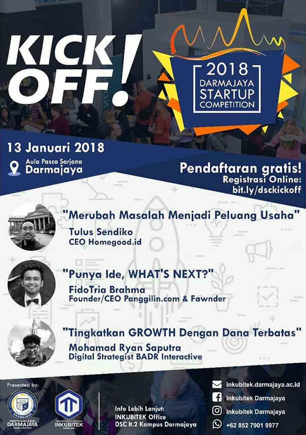 Kick Off Darmajaya Startup Competition 2018