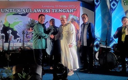 Donasi Lampung Bersatu untuk Sulawesi Tengah di Darmajaya Mencapai Rp837 Juta