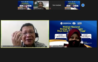 Darmajaya Sukses Gelar Webinar Nasional Strategi Pengembangan Daya Saing PT