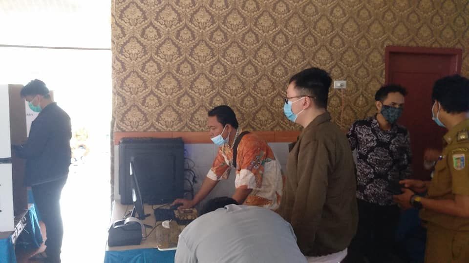 Simulasi E-Voting di Desa Podomoro Hasil Karya Dosen Sistem Komputer Darmajaya