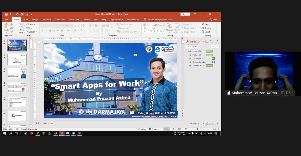 Dosen Prodi TI Kampus ini Latih Guru di Metro, Smartphone Apps for Work