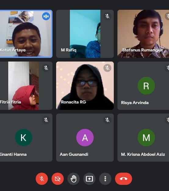 Tujuh Mahasiswa Magang MBKM di Gojek Lampung, Prodi Manajemen dan Prodi TI Lakukan Kunjungan Virtual