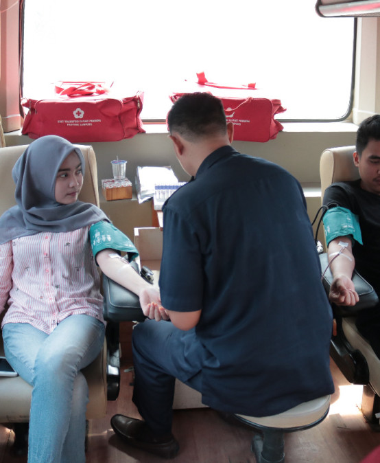 KSR PMI Darmajaya – UTD Pembina PMI Provinsi Lampung Gelar Donor Darah