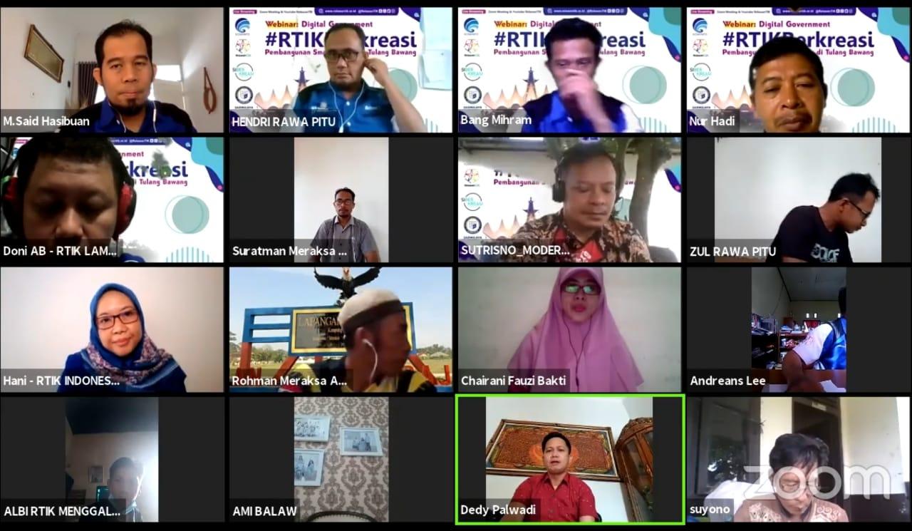Seminar Daring RTIK Berkreasi, Dosen IIB Darmajaya Bicara Konsep Smart Village