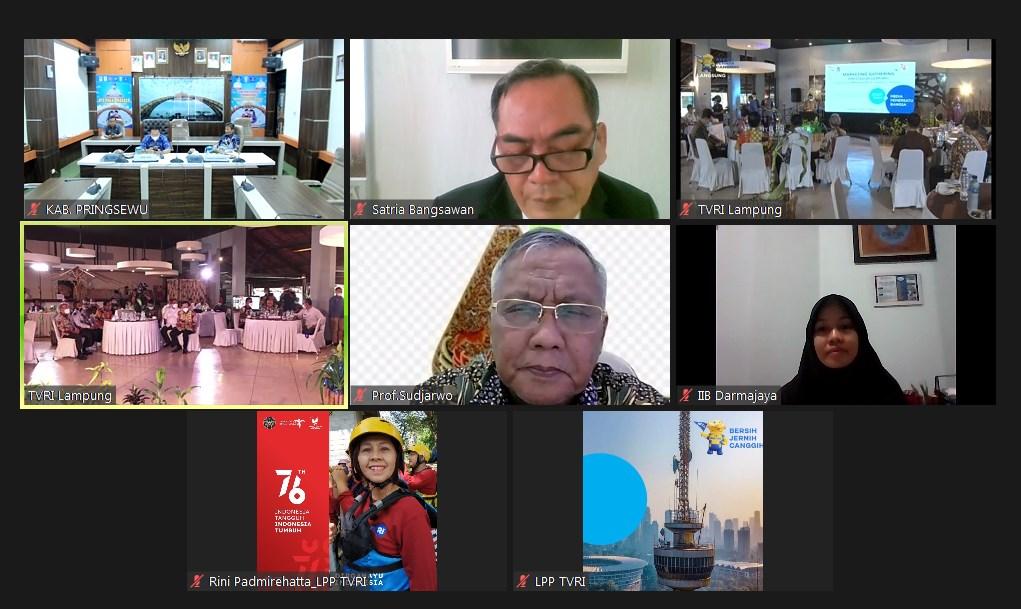Dukung Penyiaran di Lampung, IIB Darmajaya – Stasiun TVRI Lampung Penandatangan MoU