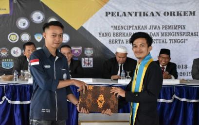 Veri Setia dan Rizky Oktara Pimpin BEM IIB Darmajaya 2018/2019