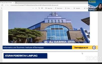 Jalani Pembekalan, Peserta KP Mandiri IIB Darmajaya Diminta untuk Tingkatkan Produktivitas Kerja di Era New Normal