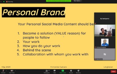 Creative Talk DKV IIB Darmajaya Hadirkan Senior Social Media Specialist Tokopedia