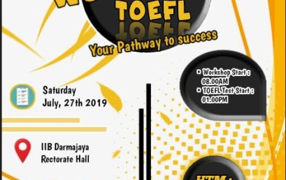 Ingin Skor TOEFLmu Tinggi, Yuuk Daftar Workshop UKM Bahasa dan Darmajaya Language Center