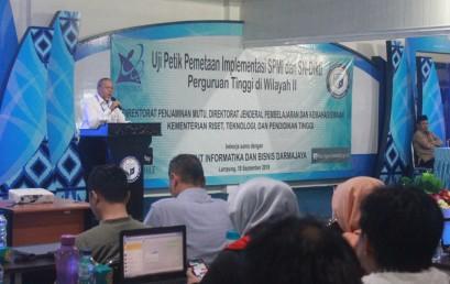 Uji Petik Pemetaan Implementasi SPMI dan SN-Dikti Perguruan Tinggi Wilayah II
