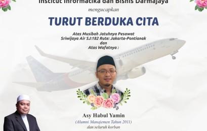 Musibah Jatuhnya Pesawat Sriwijaya Air SJ: 182, IIB Darmajaya Berduka