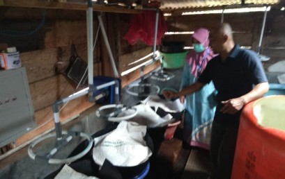 Otomasisasi Penyiraman, Pemilik UMKM Taoge di Langkapura Sangat Terbantu