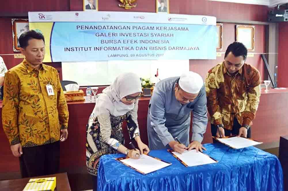 Darmajaya Buka Galeri Investasi Syariah BEI Pertama di Lampung