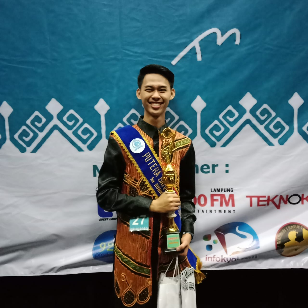 Mahasiswa IIB Darmajaya Raih Runner-Up 1 Putra Bahari Lampung 2019