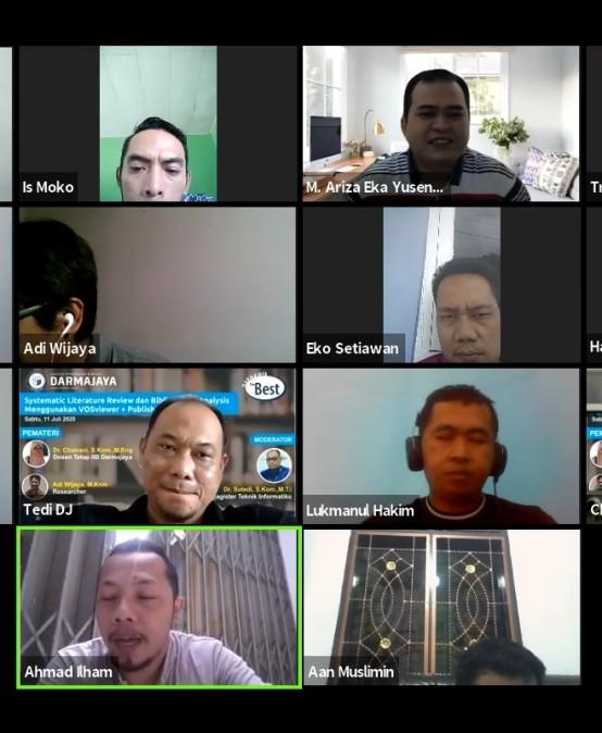 Magister Teknik Informatika IIB Darmajaya Gelar Webinar Systematic Literature Review