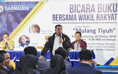 Anggota MPR RI Bustami Zainudin Ajak Mahasiswa IIB Darmajaya Bangun Daerah