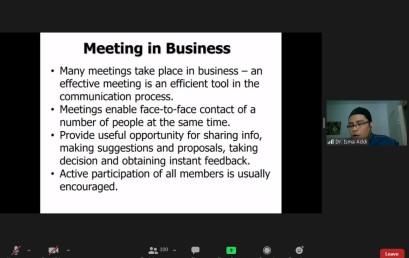Mahasiswa Prodi Manajemen Dalami Ilmu Business Meeting bersama Pengajar dari UTeM