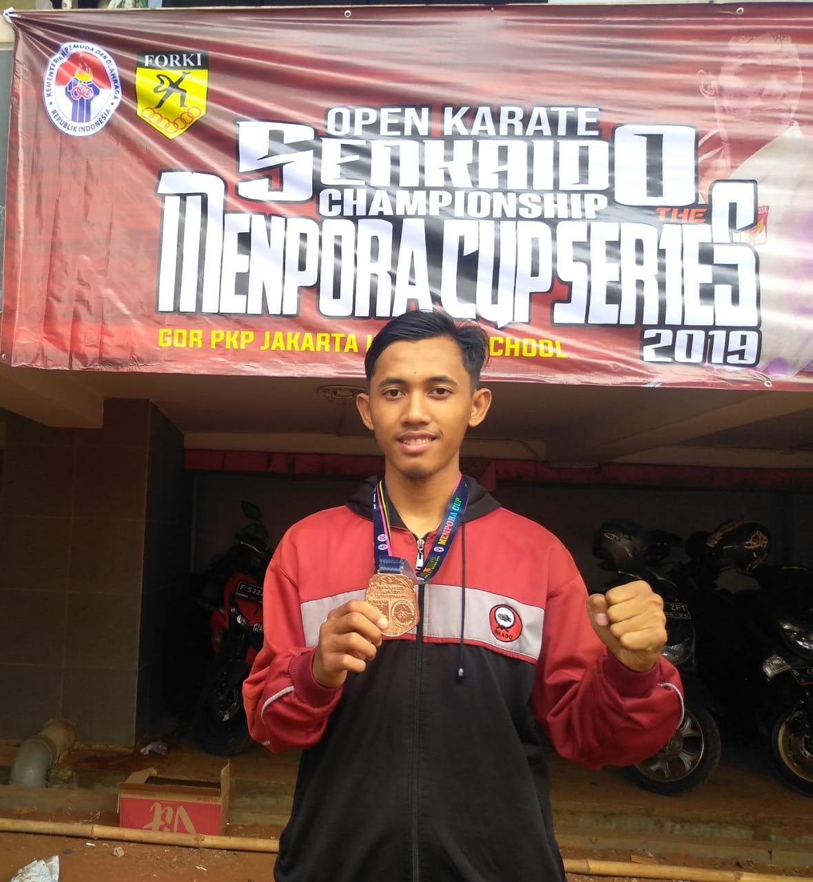 Mahasiswa IIB Darmajaya Juara III Open Karate Senkaido Championships Menpora Cup Series 2019