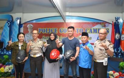 Police Goes to Campus, Ditlantas Polda Lampung Ajak Mahasiswa IIB Darmajaya Patuh Berlalulintas di Jalan