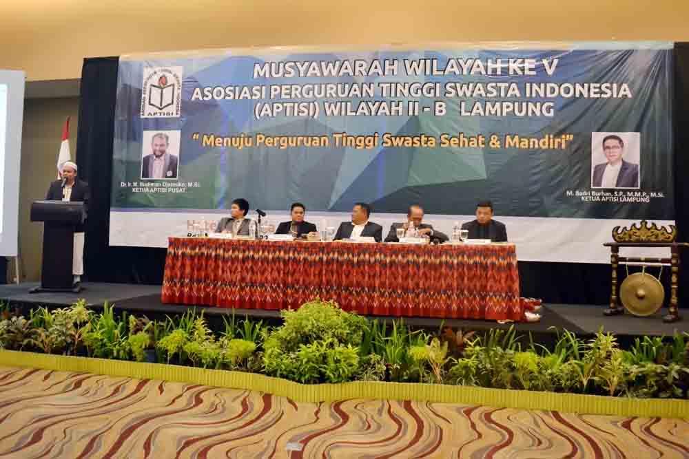 Firmansyah Ketua Terpilih APTISI Wilayah II-B Lampung