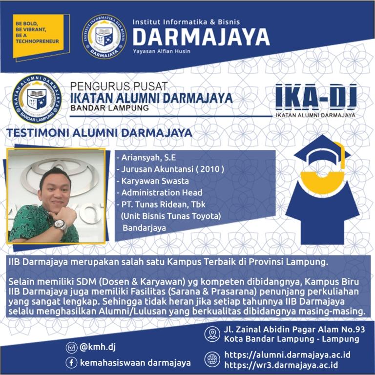 Testimoni Alumni (Ariansyah)