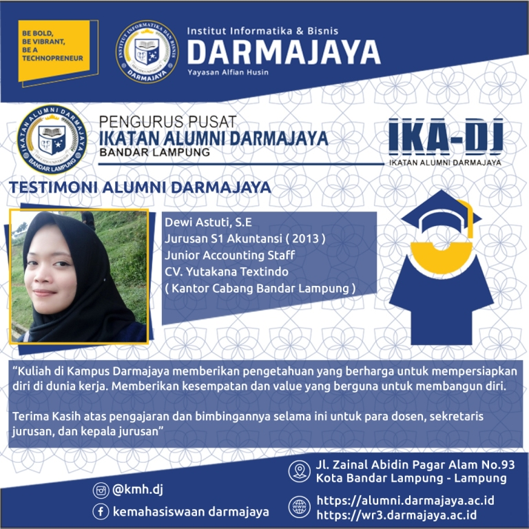 Testimoni Alumni (Dewi Astuti)