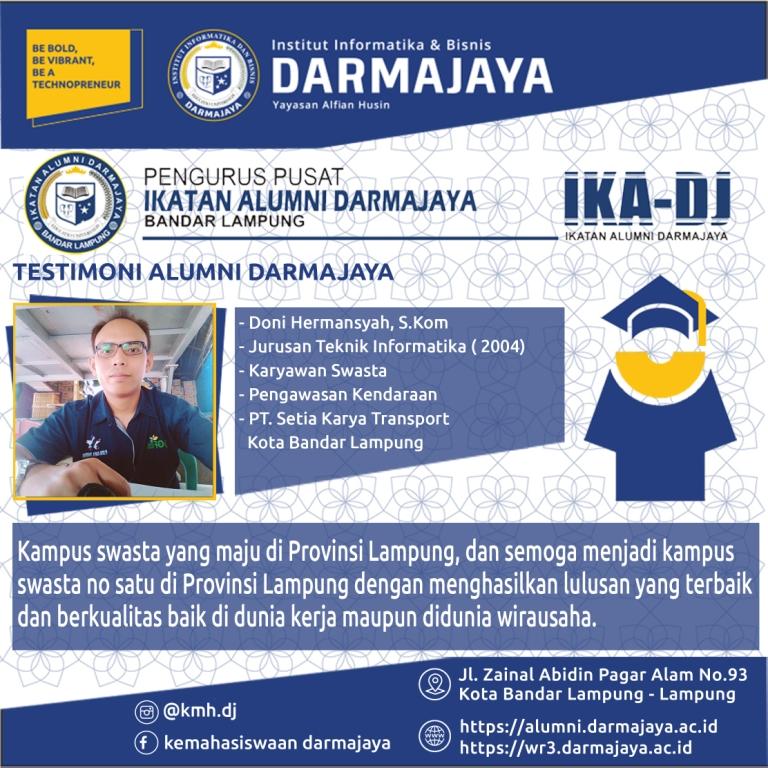 Testimoni Alumni (Doni Hermansyah)