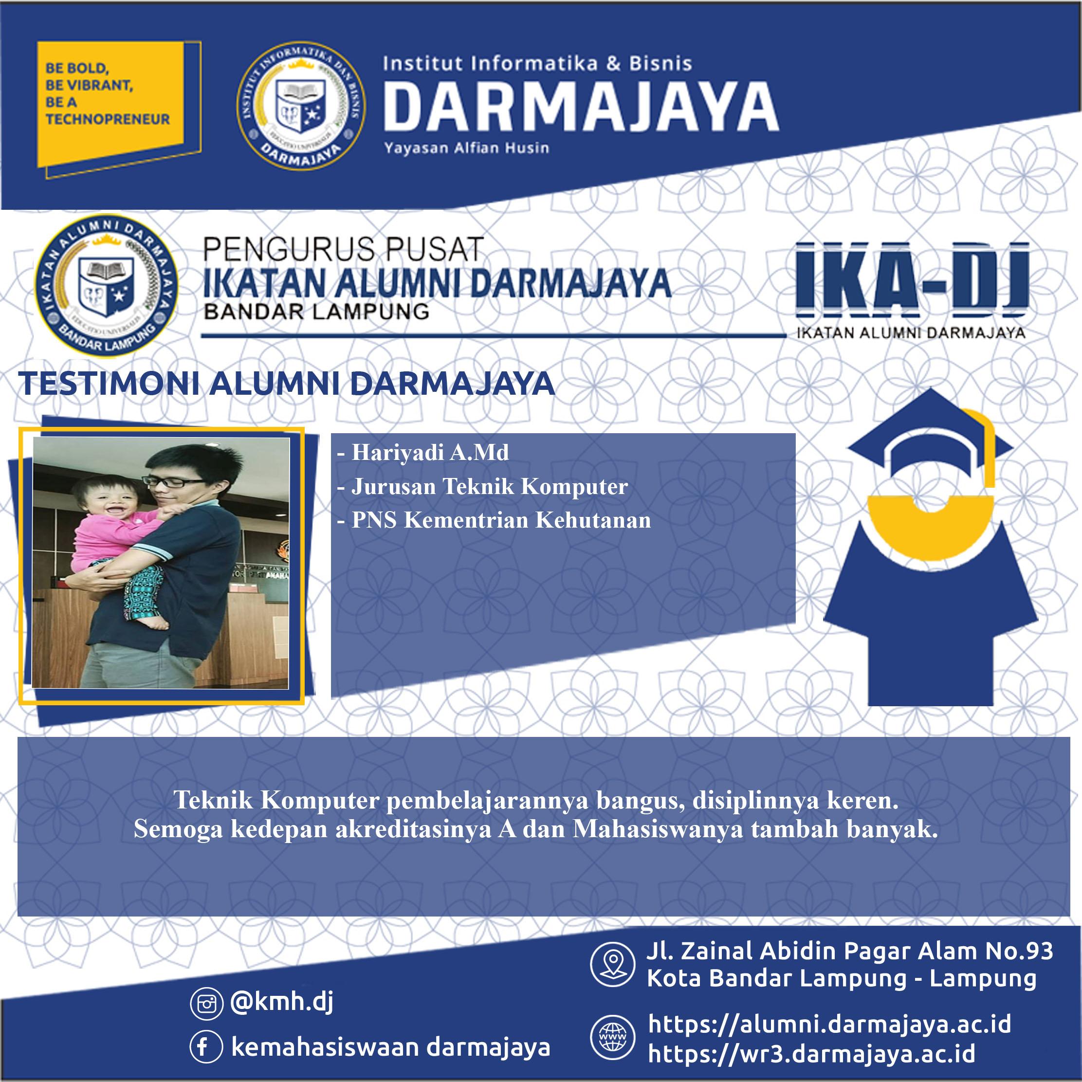 Testimoni Alumni (Hariyadi) TK