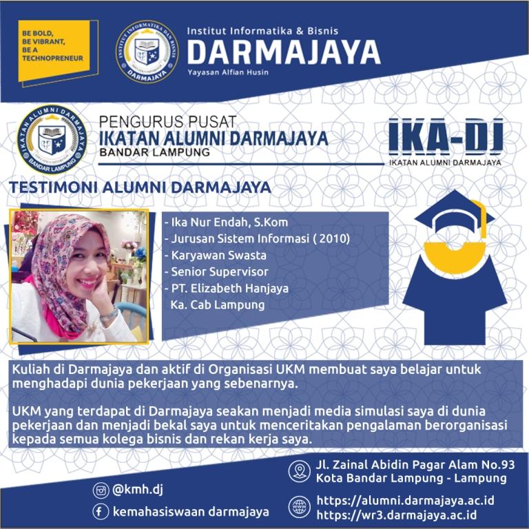 Testimoni Alumni (Ika Nur Endah)