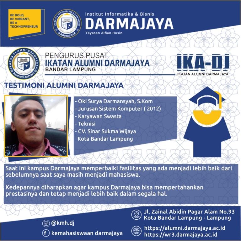 Testimoni Alumni (Oki Surya Darmansyah)