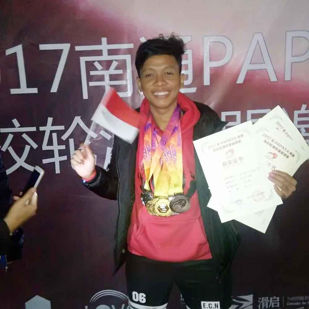 Kompetisi Sepatu Roda di Tiongkok, Mahasiswa Darmajaya Lampung Borong 5 Medali