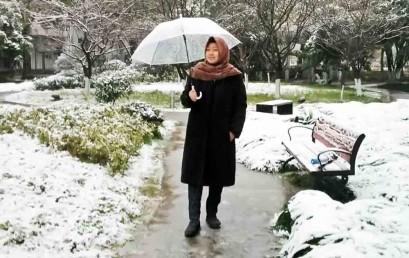 Mahasiswa Darmajaya Ini Menikmati Salju di Tiongkok