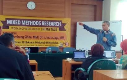 Dosen Darmajaya Sebagai Pemateri Workshop Mixed Methods Research UNPAD