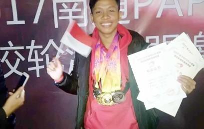 Ridho, Mahasiswa IIB Darmajaya Ukir Prestasi Internasional di Tiongkok