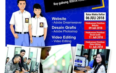 Yuk Daftar … Pelatihan Website, Desain Grafis, dan Video Editing di Darmajaya
